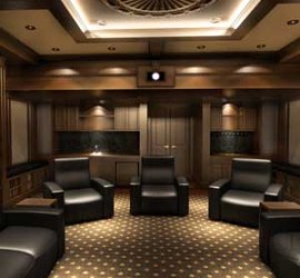In the News - Library Hides Stunning Secret Home Theater